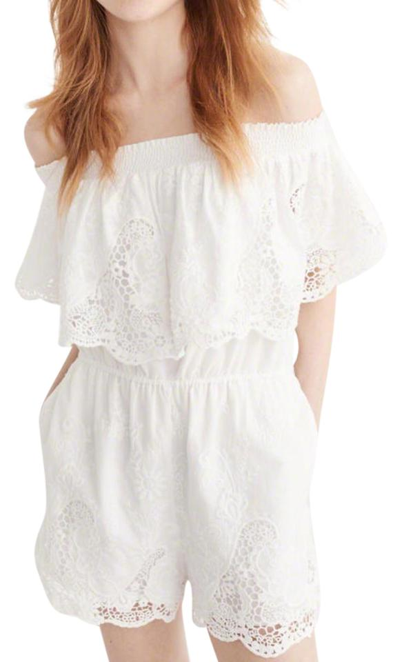 2a2ba211822a Abercrombie   Fitch Off The Shoulder Lace Romper Jumpsuit - Tradesy