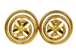 Chanel Chanel Vintage '93 Extra Large Swirl Clip On Earrings