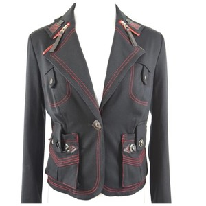 Simon Chang Stitch Navy Blue & Red Jacket