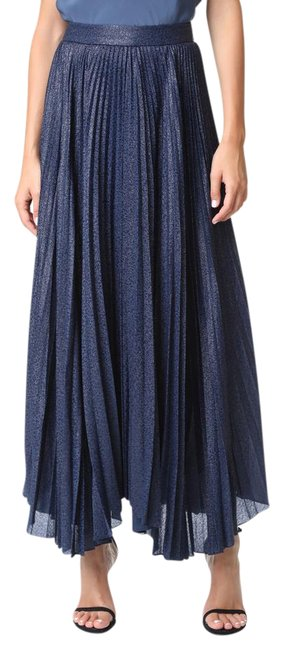 Item - Navy Sunburst Katz Pleated Skirt Size 0 (XS, 25)