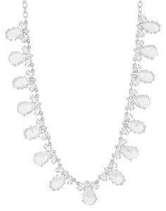 Kate Spade Kate Spade Up the Ante Silver Crystal Short Necklace WBRU7815
