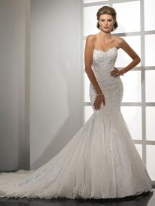 Sottero and Midgley Ivory Lace/Tulle Tracey Formal Wedding Dress Size 24 (Plus 2x) - item med img