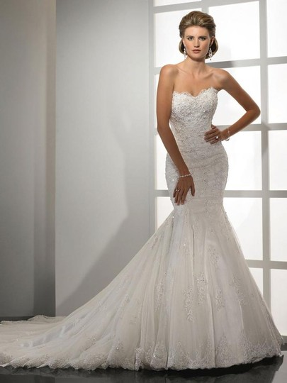 Sottero and Midgley Ivory Lace/Tulle Tracey Formal Wedding Dress Size 24 (Plus 2x) Image 0