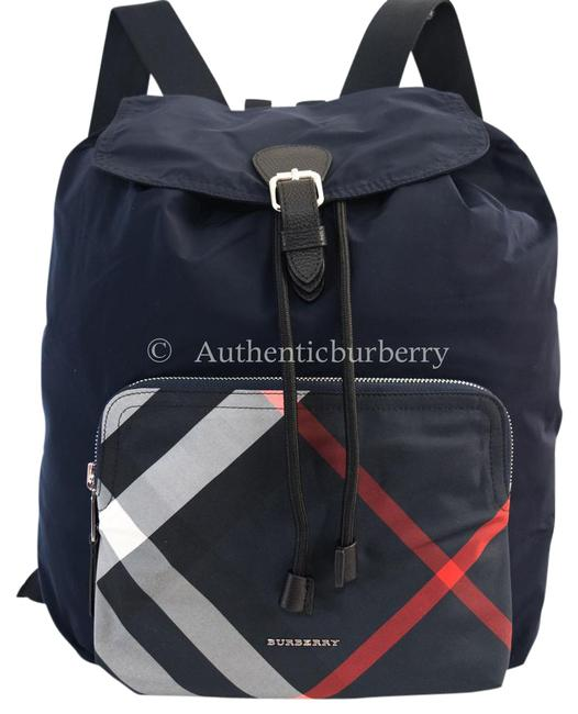 Item - Check Detail Technical Packaway Navy Nylon Backpack