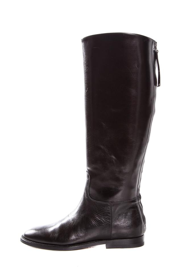 Jenni Kayne Black Round Boots/Booties Toe Leather Zip Closure Boots/Booties Round f0c67f