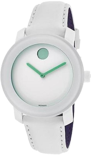 Movado Movado Bold White Leather Unisex Watch 3600154