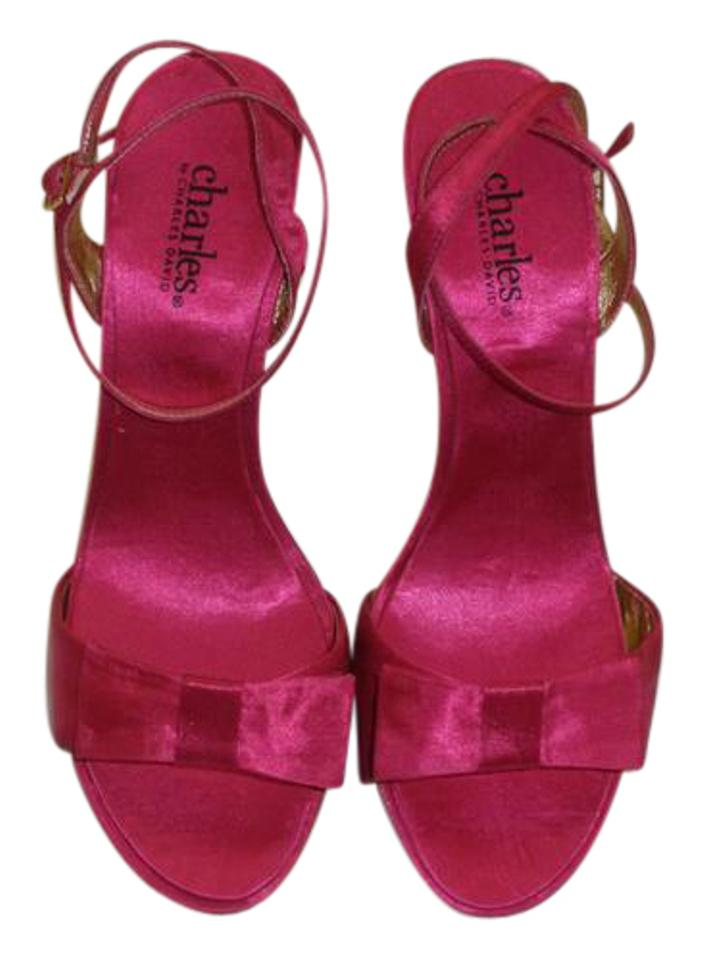 dfd2bf526ef Charles by Charles David Hot Pink Ankle Strap Satin Sandals Size US 6.5  Regular (M, B) 68% off retail