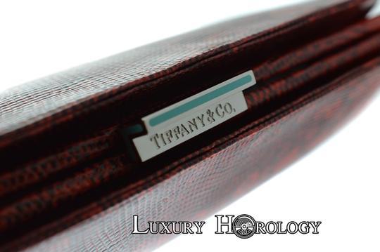 Tiffany & Co. New Authentic Tiffany & Co Lyn Red Print Lizard Long Clutch Bag Image 3
