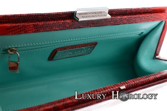 Tiffany & Co. New Authentic Tiffany & Co Lyn Red Print Lizard Long Clutch Bag Image 5
