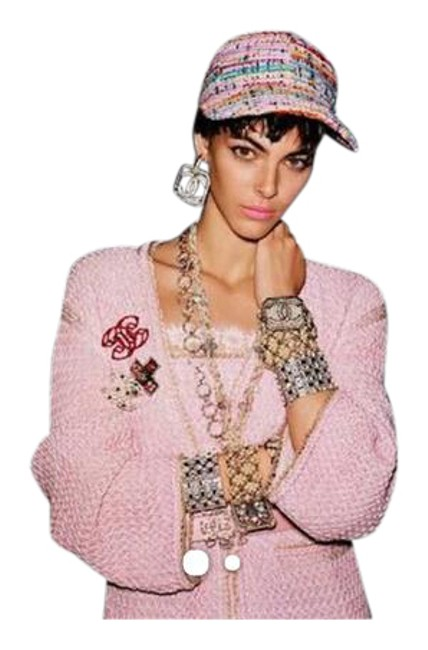Item - Pink Multi Runaway Tweed Baseball Cap Hat