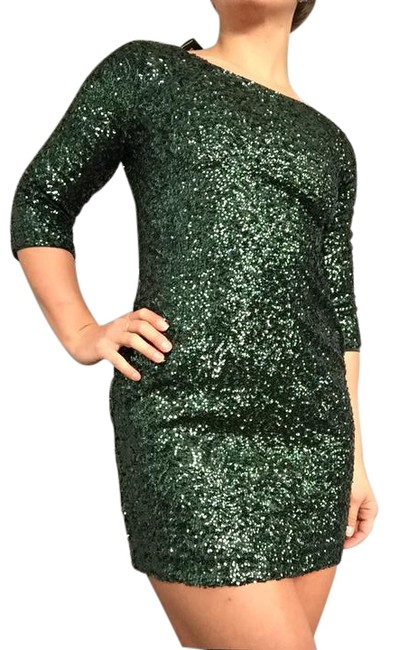 Item - Jade Green Sequin Short Night Out Dress Size 4 (S)