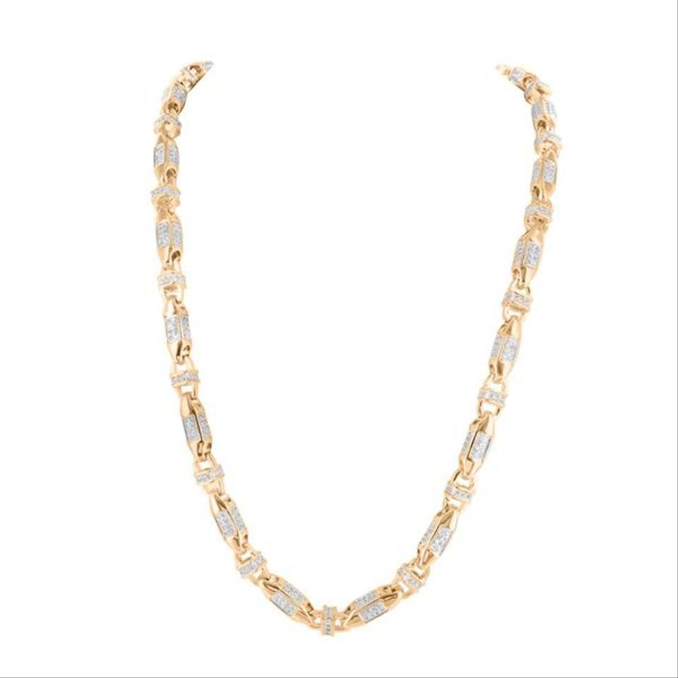 gold friedman rivka clad width simulated rose v p diamond necklace