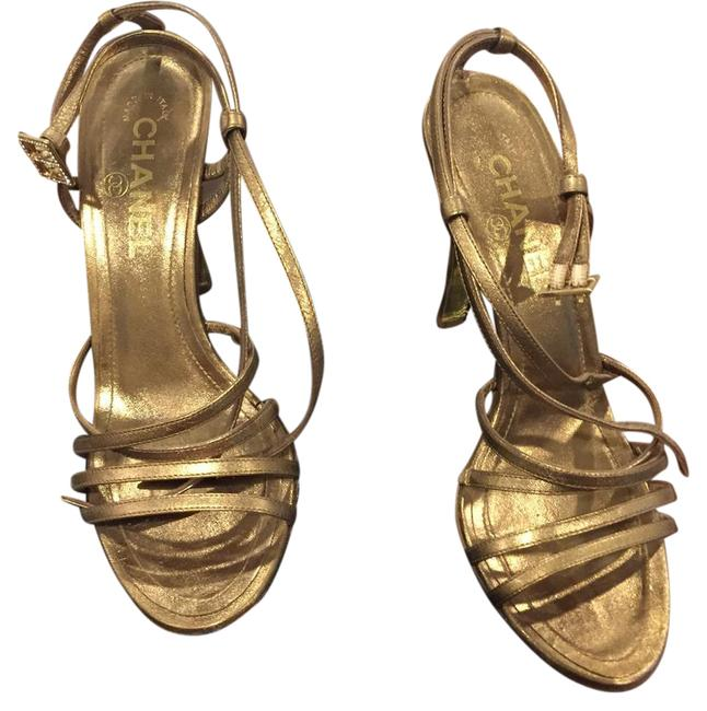 Item - Gold Bronze Strappy Sandals Formal Shoes Size EU 36.5 (Approx. US 6.5) Regular (M, B)