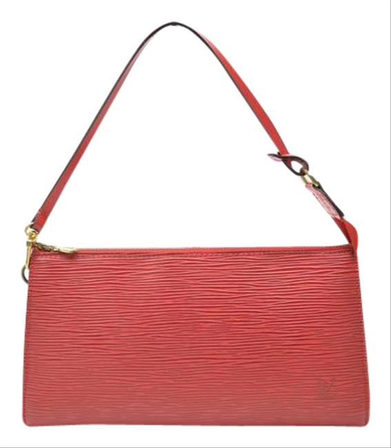 Item - Pochette Red Leather Wristlet