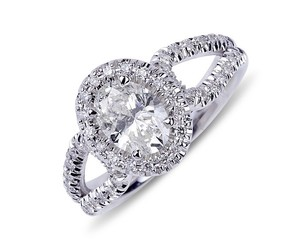 White Gold New Fine Natural Oval Diamond Engagement 1.58ct Ring
