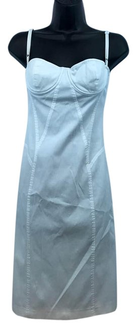 Item - White Stretchy Cotton Blend 42 Short Casual Dress Size 6 (S)