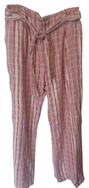 Item - Fadd Red and Ivory Lounge Pants Size 12 (L, 32, 33)