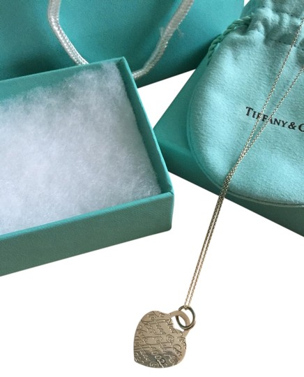 Tiffany & Co. Sterling Necklace With Herat Pendant