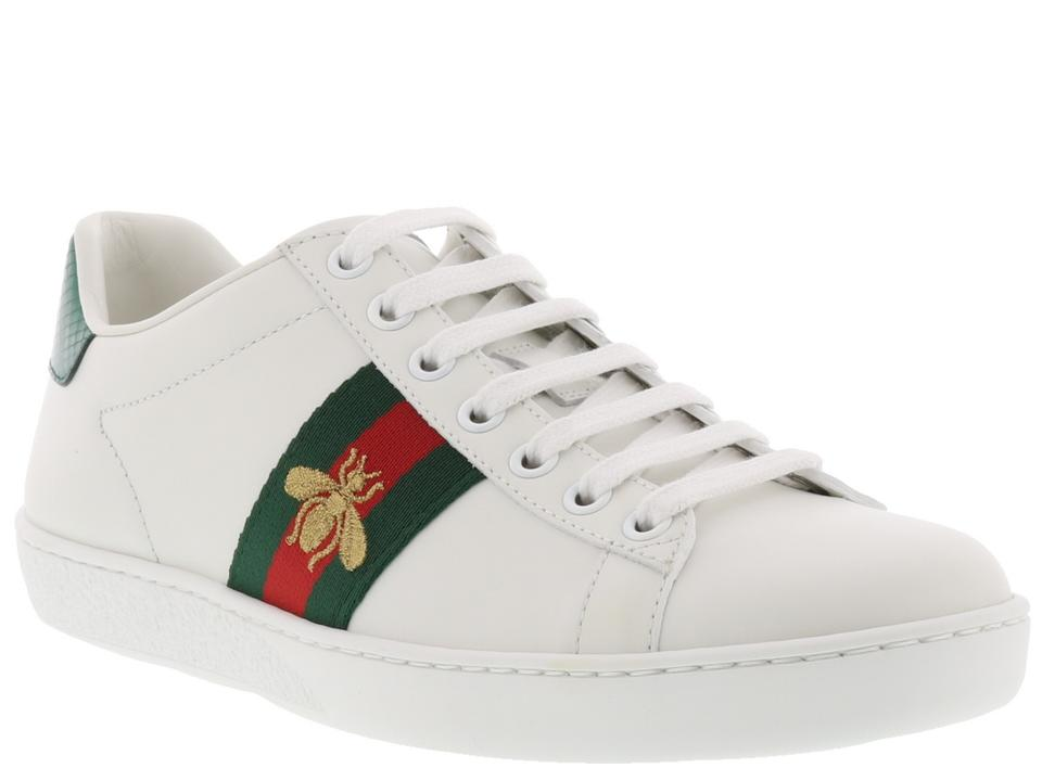 c9fd648f034 Gucci White New Ace Web Bee Sneakers Eu 39 Sneakers Size US 9 ...