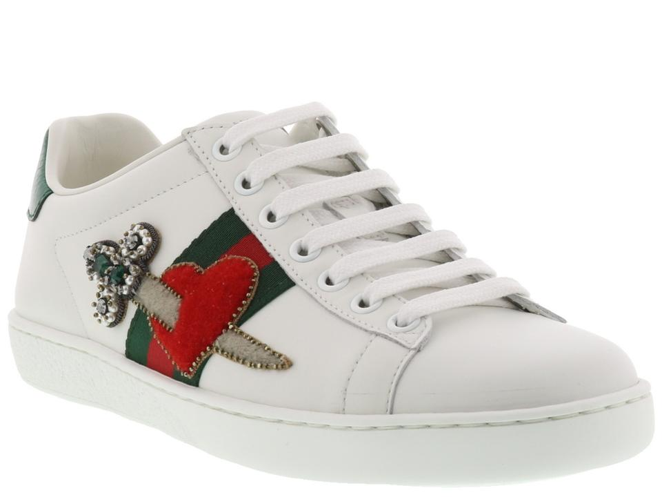 72955957c Gucci Multicolor New Ace Pierced Heart Low-top 36 Sneakers Size US 6 ...