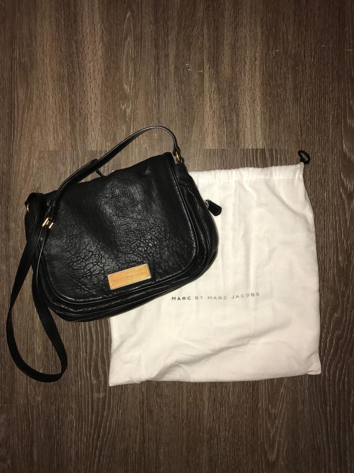 2e4943f78d6 Marc by Marc Jacobs Washed Up Nash Black Leather Cross Body Bag ...