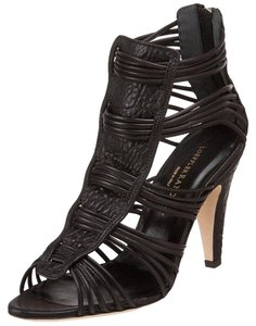 Loeffler Randall Loeffler Strappy Kylie Leather Black Sandals