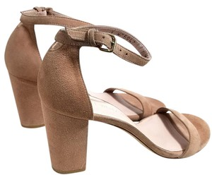 Stuart Weitzman Natural Suede Sandals