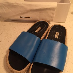 Balenciaga Espadrille Summer Blue Sandals