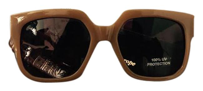 Item - New Br Women Fashion Beige Gold Frame Brown Sunglasses