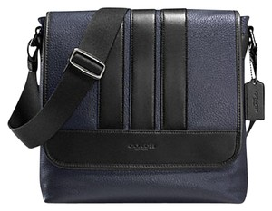 Coach Cross Body File Laptop Charles midnight black Messenger Bag
