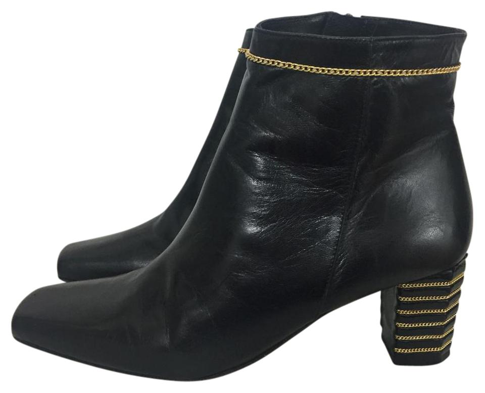 lady Timothy Chain Hitsman Black/Gold Chain Timothy Boots/Booties Preferred material 9752fb
