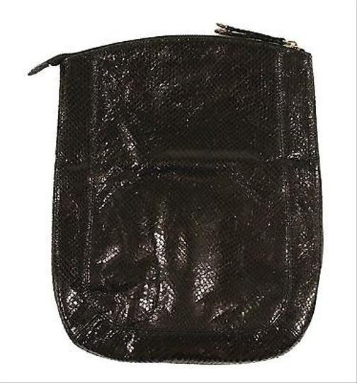 Ralph Lauren Polo Rugby Leather Python Blacks Clutch