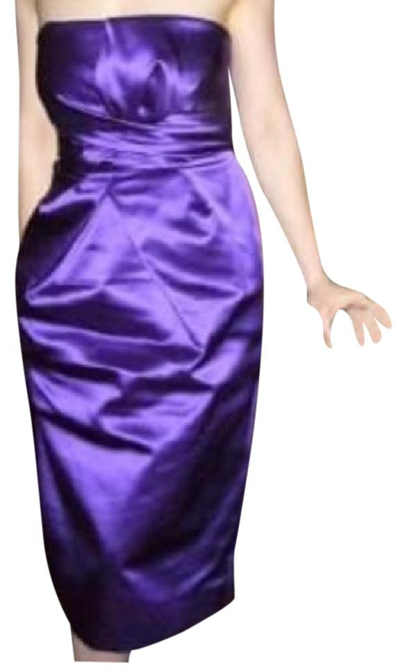 2c736b41a16 Philosophy di Alberta Ferretti Purple Silk Satin Strapless Origami ...