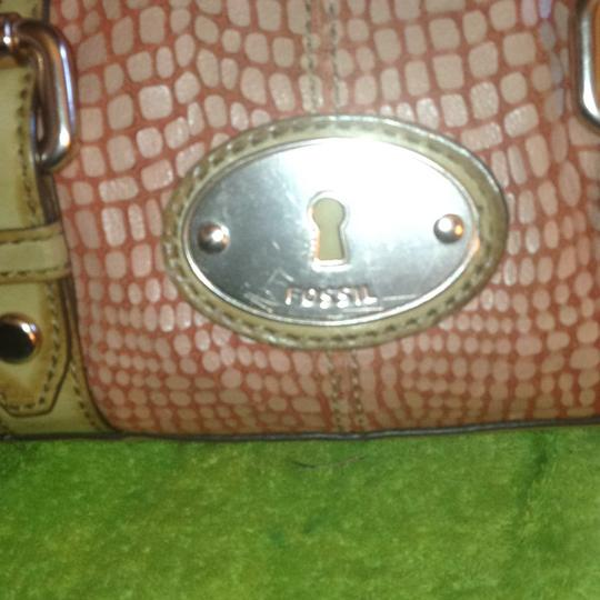 Fossil Satchel in Tan/Pink/Rust Image 1