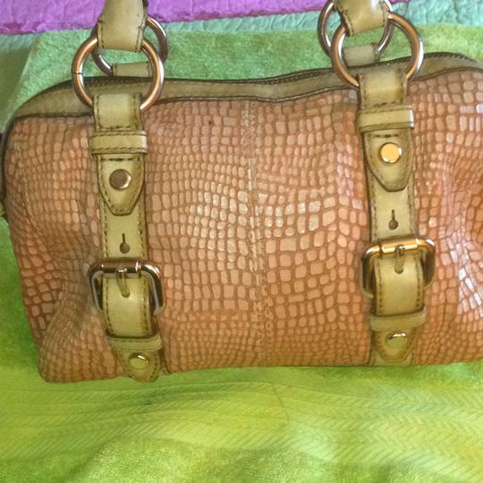 Fossil Satchel in Tan/Pink/Rust Image 2