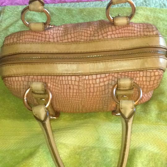 Fossil Satchel in Tan/Pink/Rust Image 3