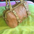 Fossil Satchel in Tan/Pink/Rust Image 5