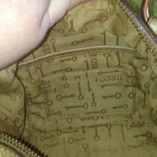 Fossil Satchel in Tan/Pink/Rust Image 7
