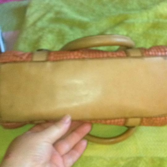 Fossil Satchel in Tan/Pink/Rust Image 9