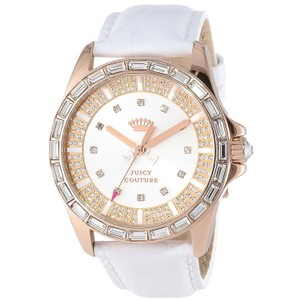 Juicy Couture Juicy Couture Women's Stella White Embossed Leather Strap Watch