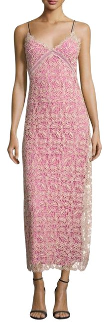 Item - Pink Cream Nude Sleeveless Lace Msrp Long Cocktail Dress Size 8 (M)