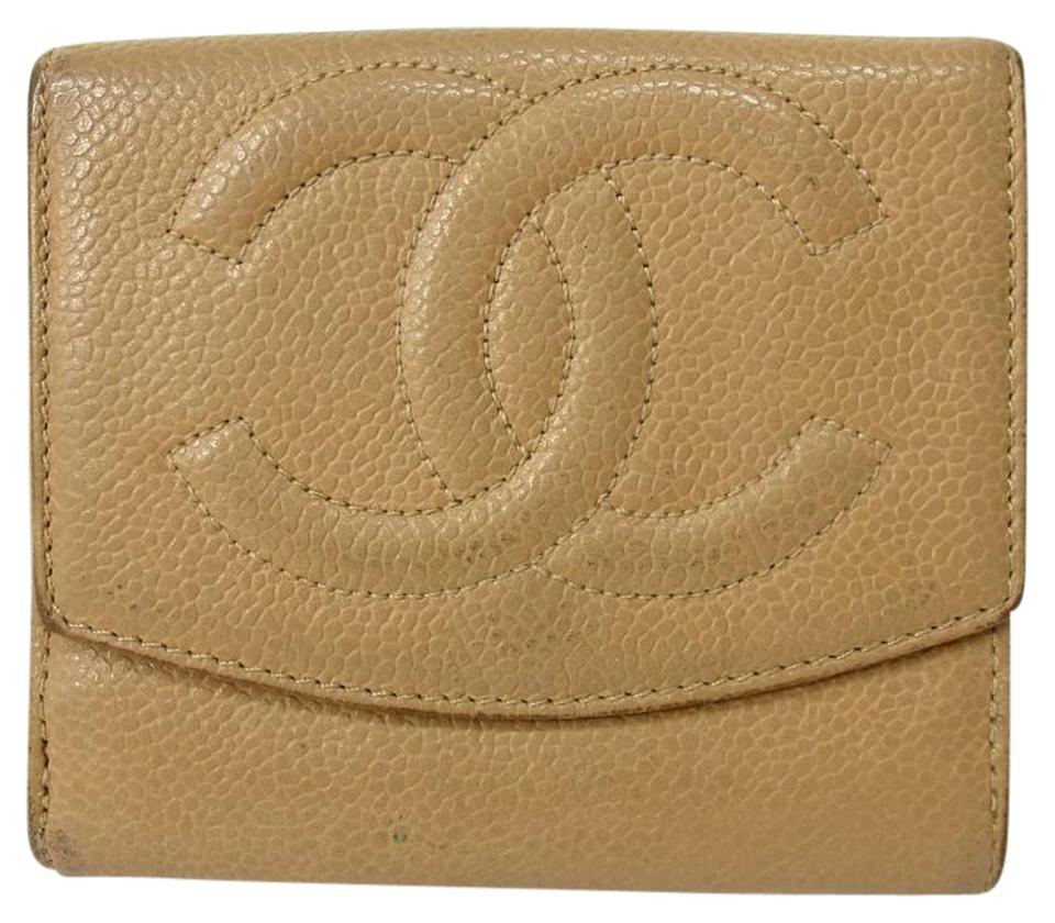aabf6432aded Chanel Authentic CHANEL COCO Mark Double Sided wallet Caviar skin Image 0  ...