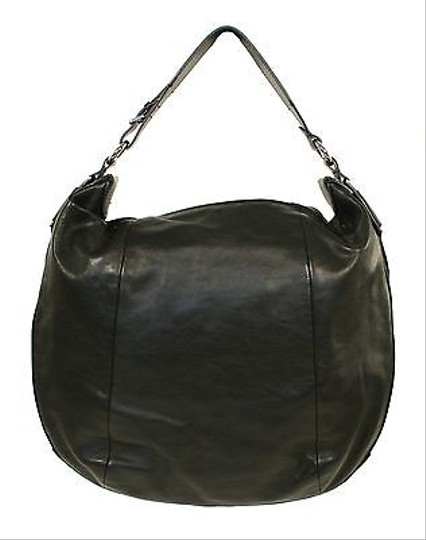 Ralph Lauren Label Leather Horseshoe Hobo Bag