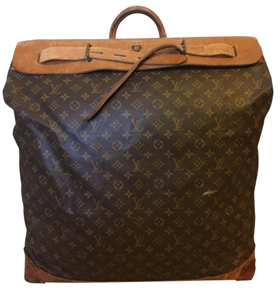 761a7566f3d5 Louis Vuitton Vintage Leather Monogram Studded Brown Travel Bag Image 0 ...