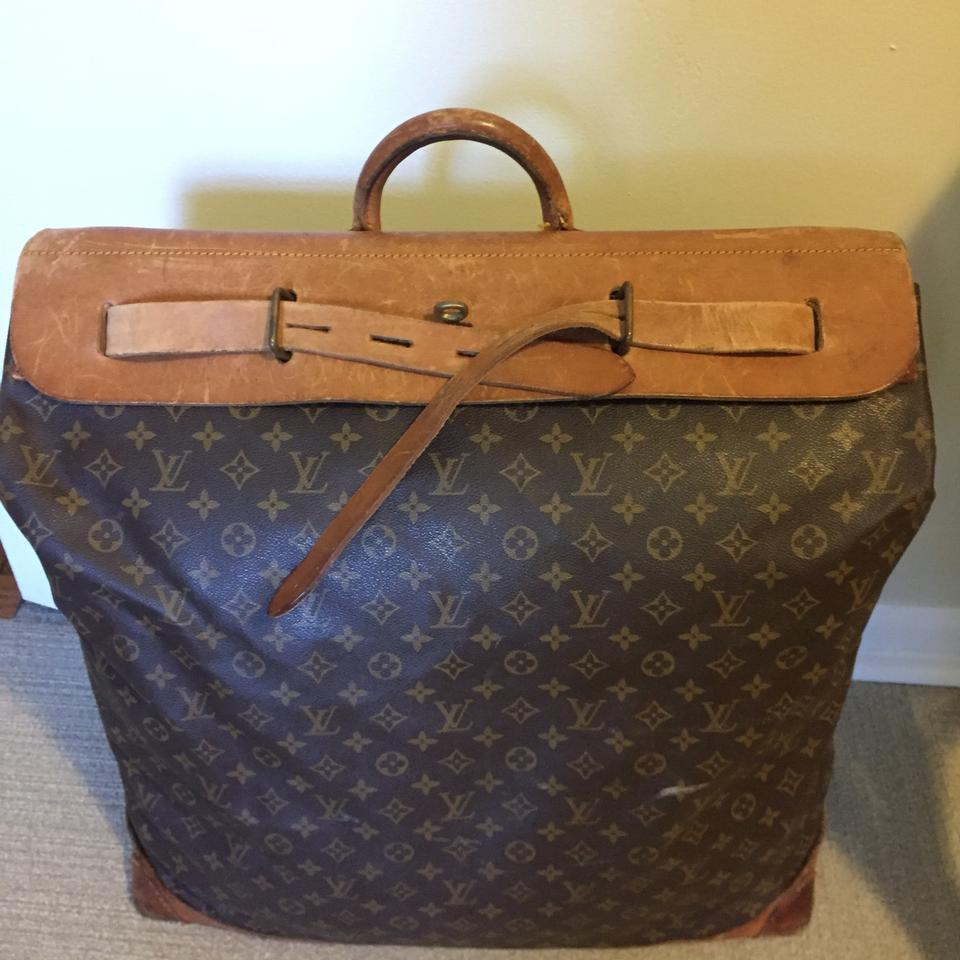 e56d1b7d6373 Louis Vuitton Vintage Leather Monogram Studded Brown Travel Bag Image 9.  12345678910