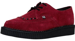T.U.K Festival Punk Creepers Suede Red Platforms