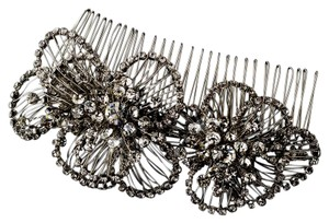 Elegance by Carbonneau Silver Vintage Look Rhinestone Comb Hair Accessory