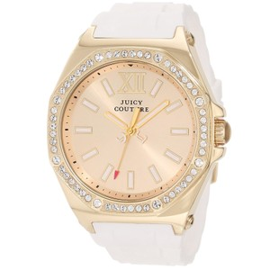 Juicy Couture Juicy Couture Women's Chelsea White Silicone Strap Watch