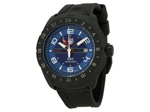 Luminox 5023 Space Men's Black Rubber Bracelet With Blue Analog Dial Watch NWT