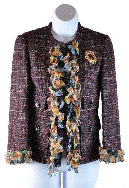 Preload https://item3.tradesy.com/images/dolce-and-gabbana-multi-brown-dolce-and-gabbana-wool-silk-tweed-boucle-classic-floral-w-brooch-38-si-2168957-0-0.jpg?width=400&height=650